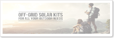 OFF-GRID SOLAR KITS FOR ALL YOUR OUTDOOR NEEDS